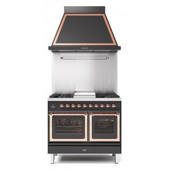 Ilve Cucina da accosto PD10N Nostalgie Cucina da accosto cm 100 configurabile  inox o colorato