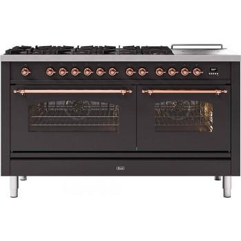 Ilve Cucina da accosto P15N Nostalgie Cucina da accosto cm 150 configurabile  inox o colorato