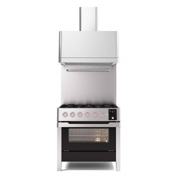 Ilve Cucina da accosto PM09 Panoramagic Cucina da accosto cm 90 configurabile  inox