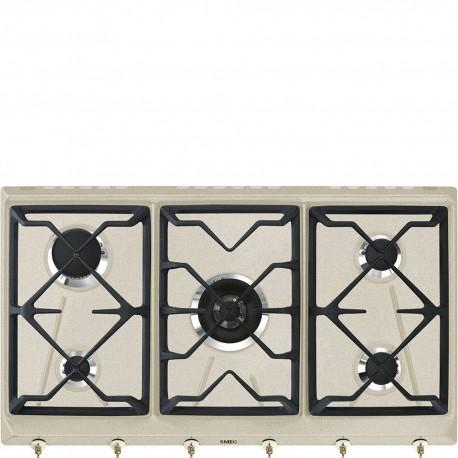 Smeg SRV896AVOGH2 Piano di cottura Estetica Coloniale Gas 90 cm Avena Incasso Tradizionale