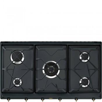 Smeg SRV896AOGH Piano di cottura Estetica Coloniale Gas 90 cm Antracite Incasso Tradizionale TIPOLOGIA