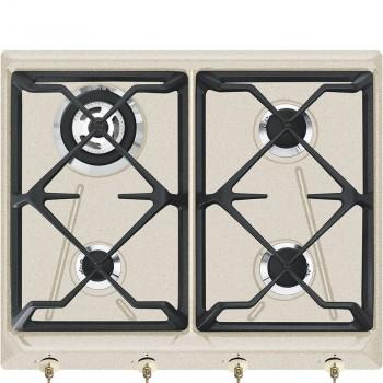 Smeg SRV864AVOGH2 Piano di cottura Estetica Coloniale Gas 60 cm Avena Incasso Tradizionale