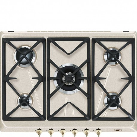 Smeg SRV876AVOGH2 Piano di cottura Estetica Coloniale Gas 7075 cm Avena Incasso Tradizionale