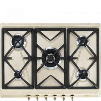 Smeg SRV876POGH Piano di cottura Estetica Coloniale Gas 7075 cm Panna Incasso Tradizionale