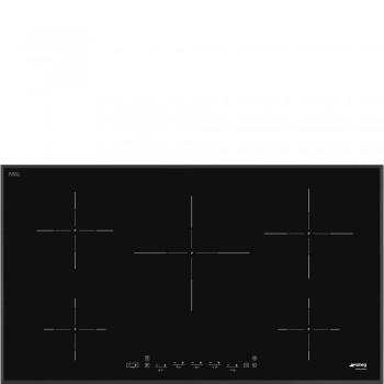 Smeg SI5952B Piano di cottura Estetica Universale Induzione 90 cm Nero Incasso Semifilo