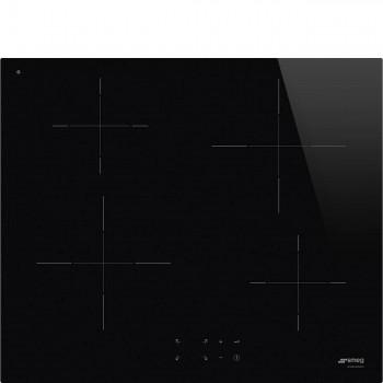 Smeg SI2641D Piano di cottura Estetica Universale Induzione 60 cm Nero Incasso Semifilo con possibilit incasso a Filo