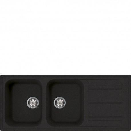 Smeg LZ116A2 Lavello Universale Lavello sintetico Standard Gocciolatoio Reversibile Numero vasche 2 Antracite
