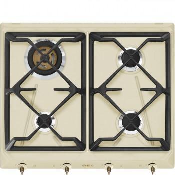 Smeg SRV864POGH Piano di cottura Estetica Coloniale Gas 60 cm Panna Incasso Tradizionale