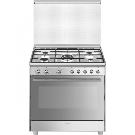 SX91SV9 Cucina 90x60 cm Classica Concerto Acciaio Inox Tipo pianale Gas Tipo forno principale Ventilato A