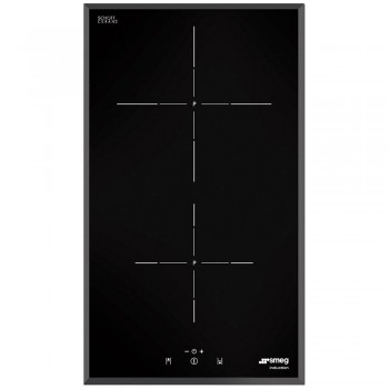 Smeg SI5322B Piano di cottura Estetica Universale Induzione 30 cm Nero Incasso Semifilo