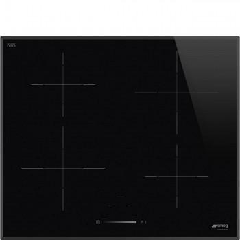 Smeg SI4642B Piano di cottura Estetica Universale Induzione 60 cm Nero Incasso Tradizionale
