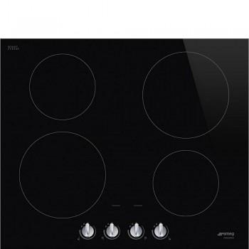 Smeg SI264DM Piano di cottura Estetica Selezione Induzione 60 cm Nero Incasso Semifilo con possibilit incasso a Filo