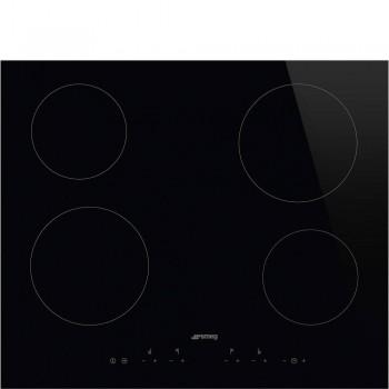 Smeg SE364TD Piano di cottura Estetica Universale Ceramico 60 cm Nero Incasso Semifilo con possibilit incasso a Filo