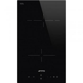 Smeg SE232TD Piano di cottura Estetica Universale Ceramico 30 cm Nero Incasso Semifilo con possibilit incasso a Filo
