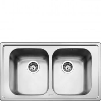 Smeg SP862 Lavello Universale Lavello saldato Standard Numero vasche 2 Acciaio Inox