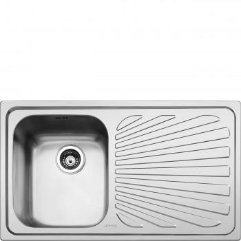 Smeg SP861D Lavello Universale Lavello saldato Standard Gocciolatoio Destro Numero vasche 1 Acciaio Inox