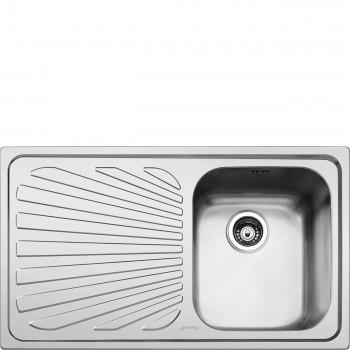 Smeg SP861S Lavello Universale Lavello saldato Standard Gocciolatoio Sinistro Numero vasche 1 Acciaio Inox