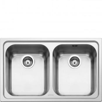 Smeg SP792-2 Lavello Universale Lavello saldato Standard Numero vasche 2 Acciaio Inox