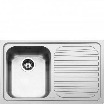 Smeg SP791D2 Lavello Universale Lavello saldato Standard Gocciolatoio Destro Numero vasche 1 Acciaio Inox