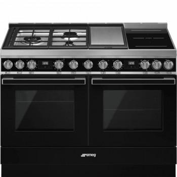 Smeg CPF120IGMPBL Cucina 120x60 cm Portofino Nero Tipo pianale Misto Direct steam A A CONTATTACI PER PREVENTIVO