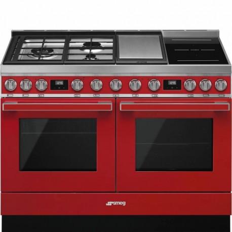 Smeg CPF120IGMPR Cucina 120x60 cm Portofino Rosso Tipo pianale Misto Direct steam A A CONTATTACI PER PREVENTIVO