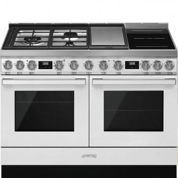 Smeg CPF120IGMPWH Cucina 120x6 0 cm Portofino Bianco Tipo pianale Misto Direct steam A A CONTATTACI PER PREVENTIVO