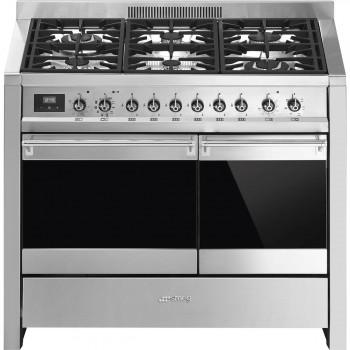 Smeg A2PY81 Cucina 100x60 cm Classica Opera Acciaio Inox Tipo pianale Gas Tipo forno secondario Statico A A