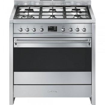 Smeg A1PY9 Cucina 90x60 cm Classica Opera Acciaio Inox Tipo pianale Gas Tipo forno principale Termoventilato A