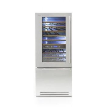 Fhiaba KS8991TWT  larghezza 90cm  configurazione 1 porta  1 cassettone  3 temperature indipendenti 1T
