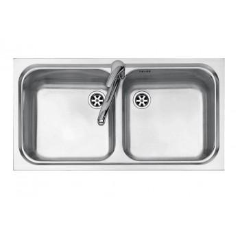 Jollynox 1I8050290K Serie 090 Lavello 2 vasche incasso 79 x 42  inox