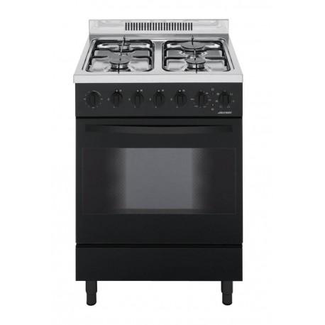 Jollynox 1CA60M7N Appoggio 60 Cucina da accosto cm 60  4 fuochi  1 forno elettrico  nero
