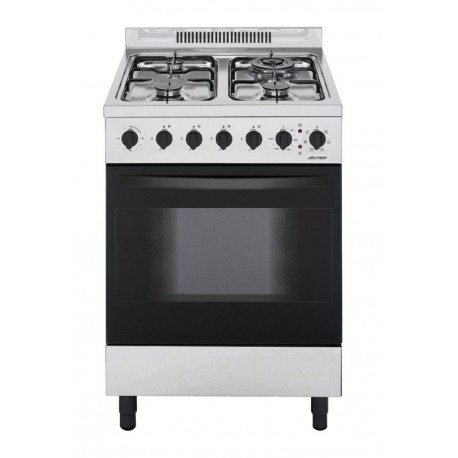 Jollynox 1CA60MI Appoggio 60 Cucina da accosto cm 60  4 fuochi  1 forno elettrico  inox