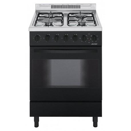 Jollynox 1CA60MN Appoggio 60 Cucina da accosto cm 60  4 fuochi  1 forno elettrico  nero