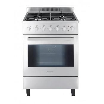 Jollynox 1CAV60MI Vicky Cucina da accosto cm 60  4 fuochi  1 forni elettrico  inox