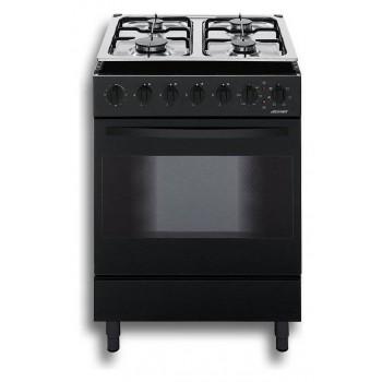 Jollynox 1CC60M7N Combinate 60 Cucina da accostoincasso cm 60  4 fuochi  1 forno elettrico  nero
