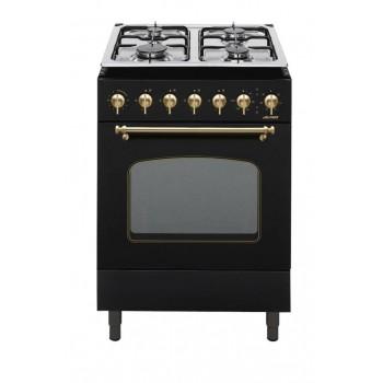 Jollynox 1CCR60MN Combinate 60 Cucina da accostoincasso cm 60  4 fuochi  1 forno elettrico  nero opaco