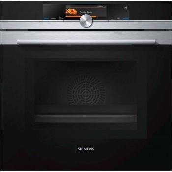 Siemens HN678G4S6 Iq700 Forno combinato a microonde e vapore cm 60  inox  vetro nero pirolitico