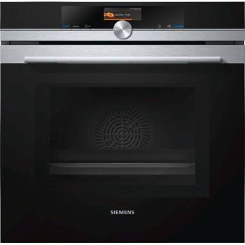 Siemens HM676G0S6 Iq700 Forno combinato a microonde cm 60  inox  vetro nero pirolitico