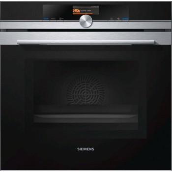 Siemens HM636GNS1 Iq700 Forno combinato a microonde cm 60  inox  vetro nero