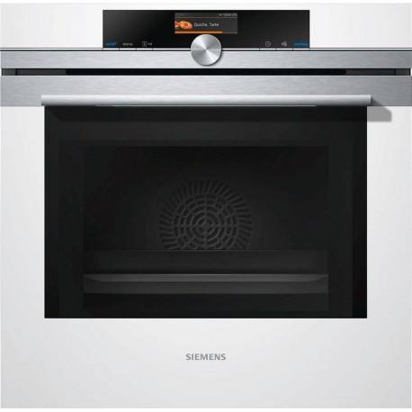 Siemens HM636GNW1 Iq700 Forno combinato a microonde cm 60  inox  vetro bianco