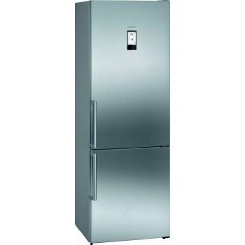 Siemens KG49NAIDP iQ500 Frigocongelatore combinato da libero posizionamento 203 x 70 cm inoxeasyclean