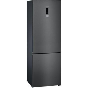 Siemens KG49NXXEA iQ300 Frigocongelatore combinato da libero posizionamento 203 x 70 cm Black stainless steel