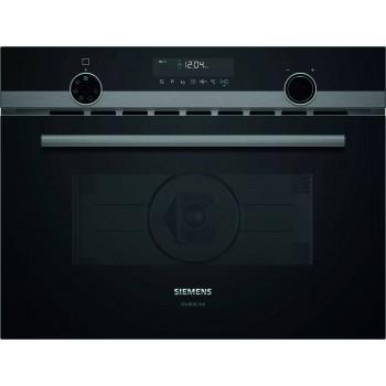 Siemens Studio Line  iQ500 Microonde da incasso con cottura ventilata 60 x 45 cm nero CM485AGB0