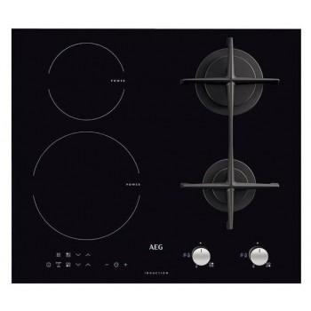 Aeg HD634170NB Piano cottura misto cm 59  vetroceramica nero