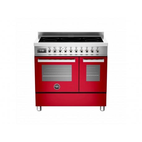 PRO905INDMFEDROT 90 cm piano a induzione forno elettrico doppio Serie Professional