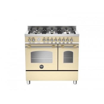 HER906MFEDCRT 90 cm 6 bruciatori forno elettrico doppio Serie Heritage