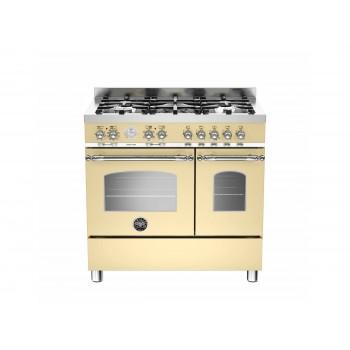 HER905MFEDCRE 90 cm 5 bruciatori forno elettrico doppio Serie Heritage