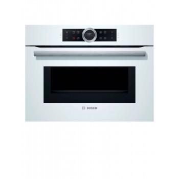 BOSCH Serie  8 Forno compatto combinato con microonde da incasso 60 x 45 cm Bianco CMG633BW1