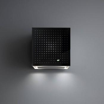 Falmec Cappa Rubik EIon Parete CERN42E0P6 ZZZN441F 42cm Vetro Nero 450 m3h