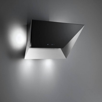 Falmec PRISMA Design Cappa parete cm 85  vetro nero  motore 800 m3h